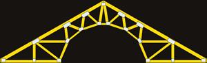 Scissor trusses for Barrel roof trusses